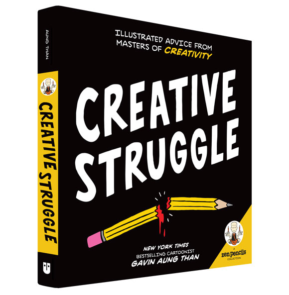 Introducing CREATIVE STRUGGLE: The new Zen Pencils book!